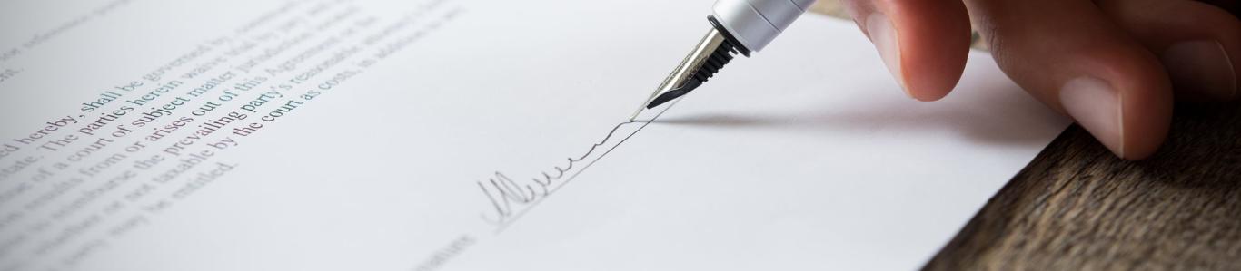 firma en papel